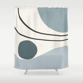 Seascapes I // Abstract Minimal Shower Curtain