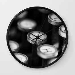 Typewriter keys Wall Clock