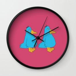 Two Fat Birds Wall Clock