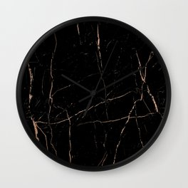 Black and rose gold / copper Wall Clock