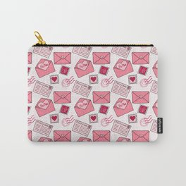 Snail mail love letter pattern in pink Carry-All Pouch