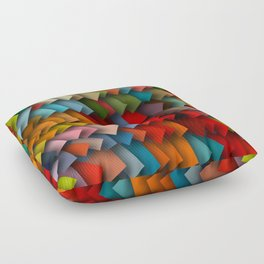 colorful rectangles with shadows Floor Pillow