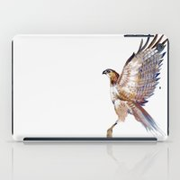 hawk iPad Cases featuring hawk by Jenny Highsmith