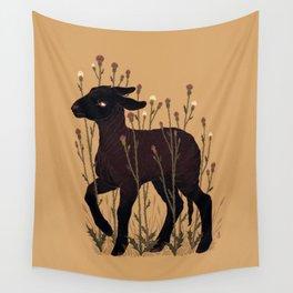 Black Lamb Wall Tapestry