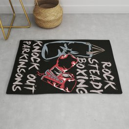 Rock Steady Boxing Knock Out Parkinsons Fighter Rug