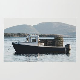 Sullivan Maine To Bar Harbor Maine // Maine Lobster Boat  Rug