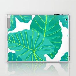 Giant Elephant Ear Leaves in White Laptop & iPad Skin