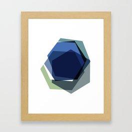 Serenity Hexagons Framed Art Print