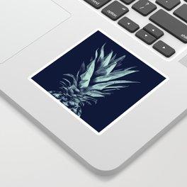 Navy Blue Pineapple Dream #1 #tropical #fruit #decor #art #society6 Sticker