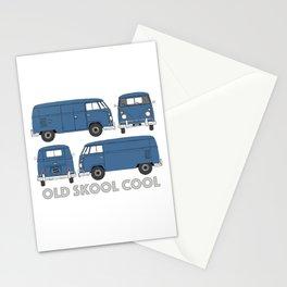 old skool cool – vintage commercial panel van in Dove Blue Stationery Cards