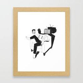 Daily dilemma Framed Art Print
