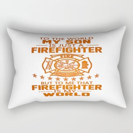 MY SON IS FIREFIGHTER Rectangular Pillow