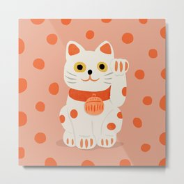 Abstraction_Lucky_Charm_Cat Metal Print