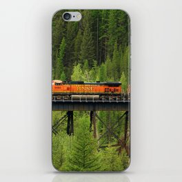BNSF Going Over Goat Lick Creek iPhone Skin