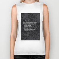 fruit Biker Tanks featuring fruit by Anna Karapiperidis