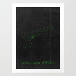 Another World  - MINIMALIST POSTER Art Print