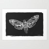 Death Moth small Art Print