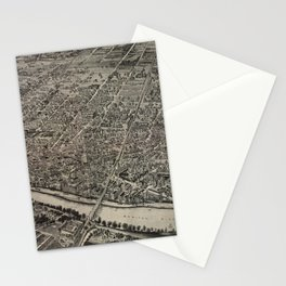 Vintage Pictorial Map of New Brunswick NJ (1910) Stationery Cards