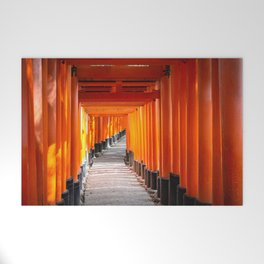 Torii gates of the Fushimi Inari Shrine in Kyoto, Japan Welcome Mat
