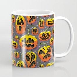 jack o lanterns jackolanterns purple pumpkin halloween creepy spooky holiday theme Coffee Mug