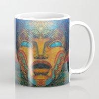 mandie manzano Mugs featuring Beauty Within by Waelad Akadan