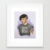 zayn Framed Art Prints featuring Zayn  by Coconut Wishes