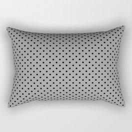 Just black and gray polka dot Rectangular Pillow