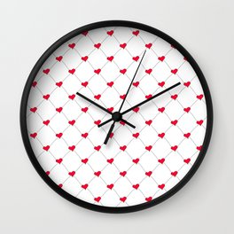 Connected Hearts Wall Clock