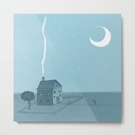 Lonely House Metal Print