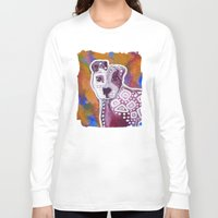 pitbull Long Sleeve T-shirts featuring Pitbull Art by Just Bailey Designs .com