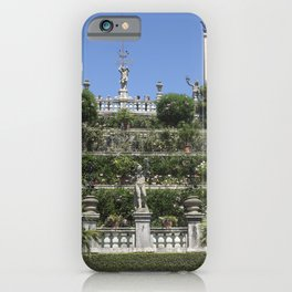 Gardens of Borromeo Palace on Isola Bella, Stresa,Italy. iPhone Case