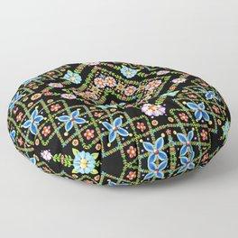 Millefiori Floral Lattice Floor Pillow