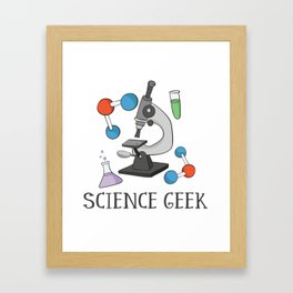 Science Geek Framed Art Print