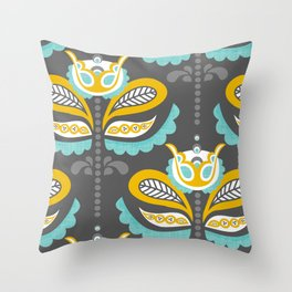 Birdsong Bloom Throw Pillow