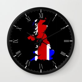 UK Flag and Silhouette Wall Clock