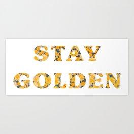 Stay Golden Sunflower Art Print