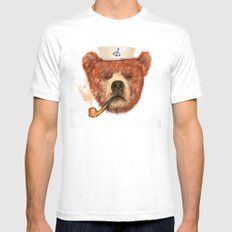 Mr.Bear Mens Fitted Tee MEDIUM White