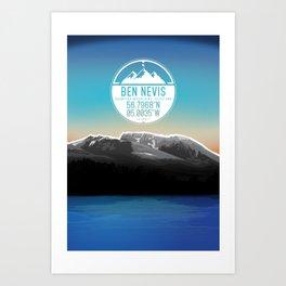 Ben Nevis [Three Peaks Series] Art Print