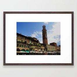 Goodbye Piazza Erbe Framed Art Print