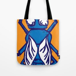 The Fly in Orange and Blue Tote Bag