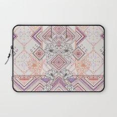 Aztec Lines Floral Laptop Sleeve