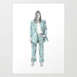 Balmain print suit Art Print