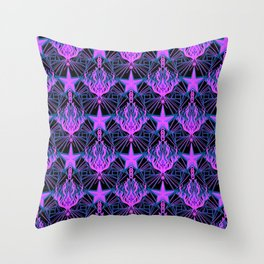 Starfire Kaleidoscope (Aphrodite's Wishing Star) Throw Pillow