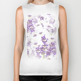 Lavender Bouquets On White Background #decor #society6 #buyart Biker Tank