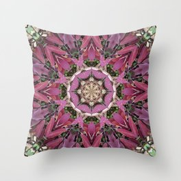 Autumn Leaves Kaleidoscope - White Ash Throw Pillow