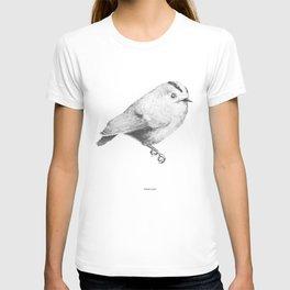 Goldcrest (Regulus regulus) - grey T-shirt