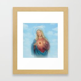 Our Lady Mary Berry Framed Art Print