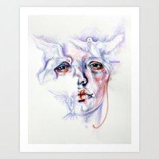 Violated purity Art Print