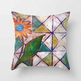 Rustic Flower Throw Pillow