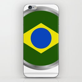 brazil flag iPhone Skin